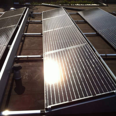 zonnepanelen op plat dak 2